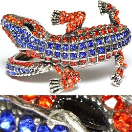 Sale Antique Bracelet Gator Rhinestones B Orange Blue SBR1046