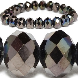 10mm Crystal Bracelet Stretch Dark Brown Gray SBR1067
