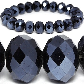 10mm Crystal Bracelet Stretch Obsidian SBR1081