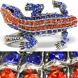 Sale Antique Bracelet Gator Rhinestones A Orange Blue SBR1118