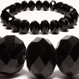 10mm Crystal Bracelet Stretch Black SBR181