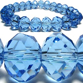 10mm Crystal Bracelet Stretch Light Blue AB SBR237