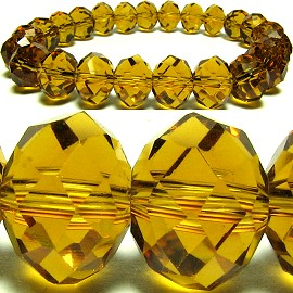 10mm Crystal Bracelet Stretch Golden Brown SBR238