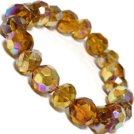 Round 12mm Crystal Bracelet Dark Gold AB SBR319