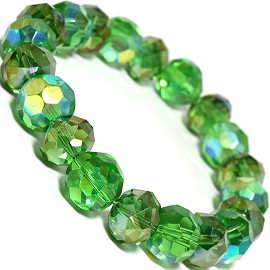 Round 12mm Crystal Bracelet Green AB SBR322