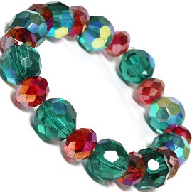 Round 12mm Crystal Bracelet Teal Red SBR480