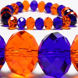10mm Crystal Bracelet Stretch Blue Orange SBR655