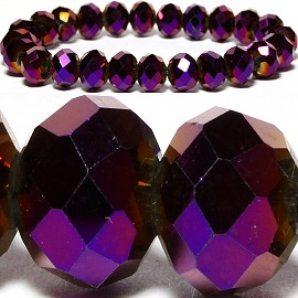 10mm Crystal Bracelet Stretch Purple SBR792