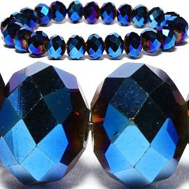 10mm Crystal Bracelet Stretch Blue SBR793