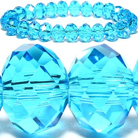 10mm Crystal Bracelet Stretch Turquoise AB SBR796