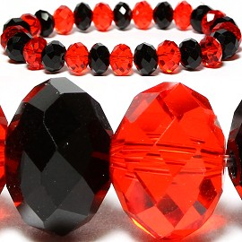 10mm Crystal Bracelet Stretch Black Red SBR799