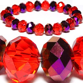 10mm Crystal Bracelet Stretch Red Solid Purple SBR961