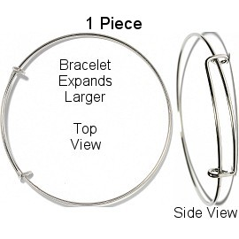 1pc Silver Bangle Can Add Any charms SBR973