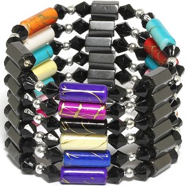"10pcs 34"" Magnetic Wrap Bead Multi Color W264"