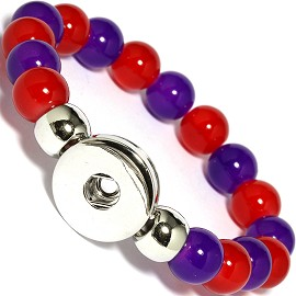 Bracelet 18mm Holder Purple Red ZB507
