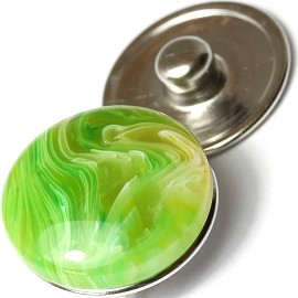1pc 18mm Marble Snap On Charm Lime ZR149