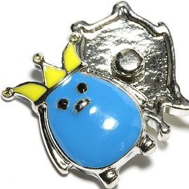 1pc 18mm Snap On Charm Blue Yellow ZR1660