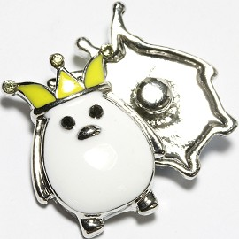 1pc 18mm Snap On Charm Yellow White ZR1661