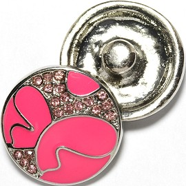 1pc 18mm Snap On Charm Pink Art ZR1735
