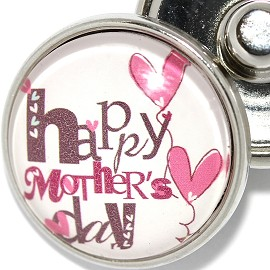 1pc 18mm Snap On Charm Happy Mother's Day ZR1879