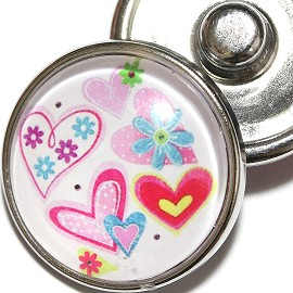 1pc 18mm Heart Snap On Charm ZR2000