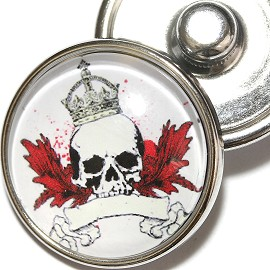 1pc 18mm Skull Snap On Charm ZR2013