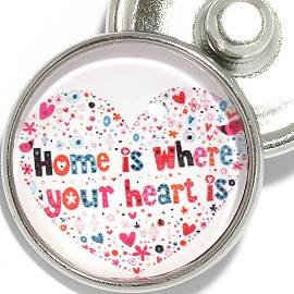 1pc 18mm Snap On Charm Round Home It Where Your Heart Is ZR2109