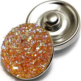 1pc 18mm Snap On Charm Sparkling Stones Orange AB ZR296