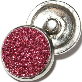 1pc 18mm Snap On Rhinestone Pink Dark ZR620