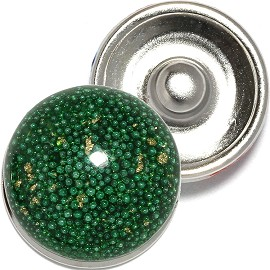1pc 18mm Snap On Charm Mini Beads Dots Green ZR830